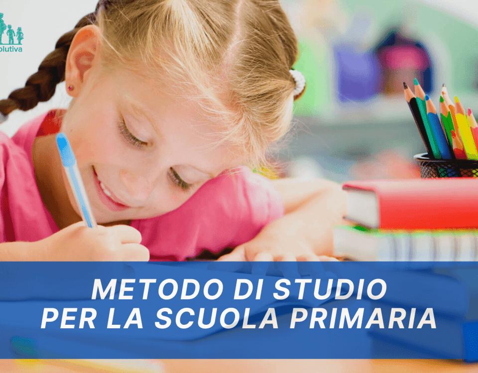 metodo di studio per la scuola primaria