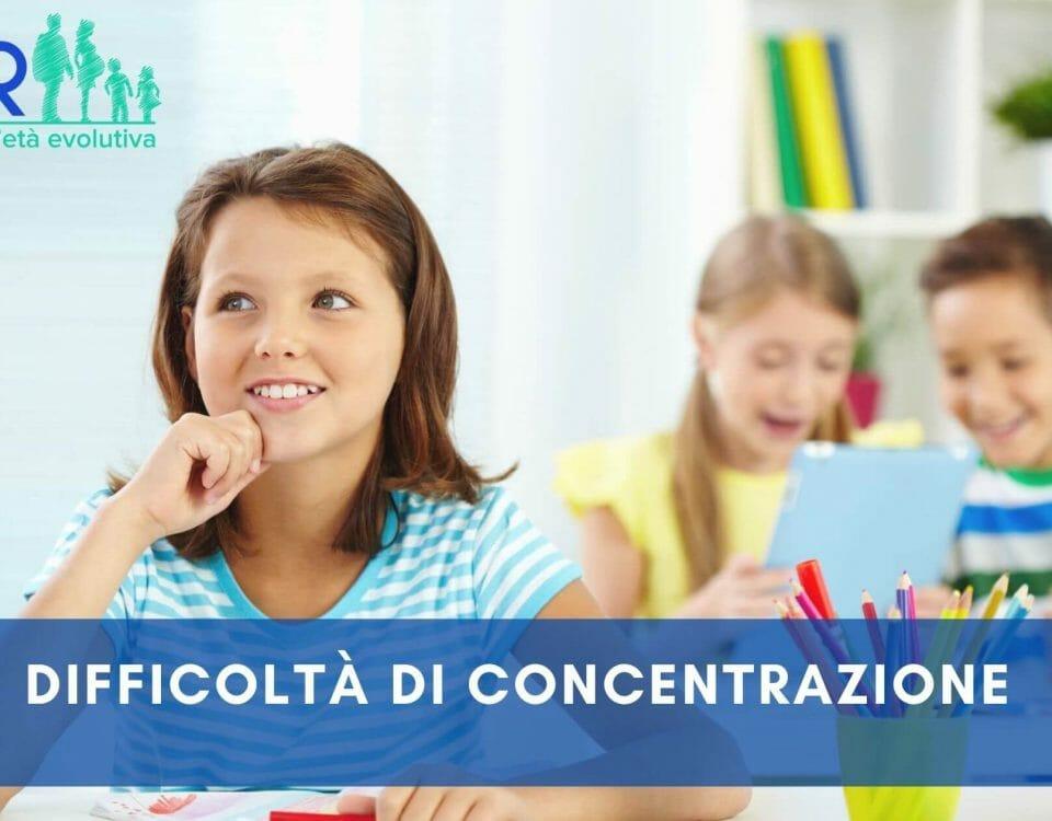 difficoltà di concentrazione nei bambini